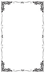 Decorative frame and borders , Black and white, Vector illustration