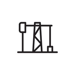 oil rig, oil well outlined vector icon. Modern simple isolated sign. Pixel perfect vector  illustration for logo, website, mobile app and other designs
