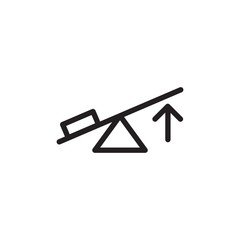 lever, physics outlined vector icon. Modern simple isolated sign. Pixel perfect vector  illustration for logo, website, mobile app and other designs
