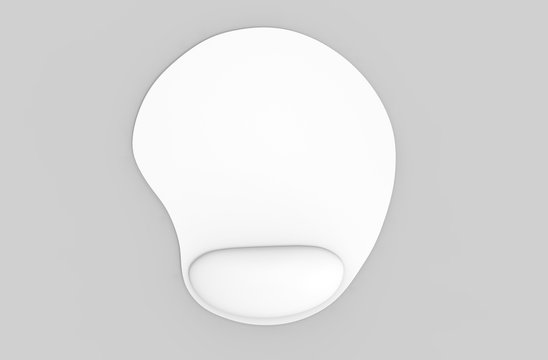 Blank gel mouse pad with computer mouse for branding or design presentation. 3d render illustration.