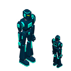 Robot character. Isolated on white background. 3d Vector illustration.