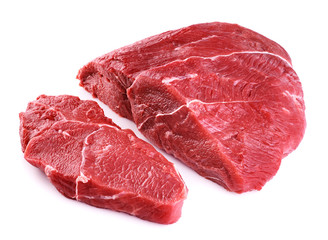 Raw beef meat isolated on white background. Wall mural