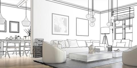 Raumadaptation: Wohnzimmer (Planung panoramisch)