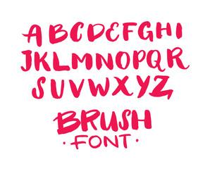 Hand lettering sketch font