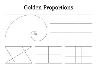 Composition proportion help guidelines set for arrangement adjusting Wall mural