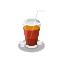 Ice Tea Cafe Illustration