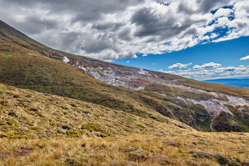 Views along the trail of the Tongariro Alpine Crossing, New Zealand