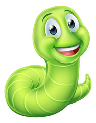 Caterpillar Worm Cartoon Character
