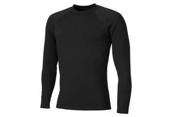 Thermo active underwear clothing in black color