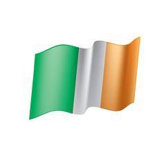 Ireland flag, vector illustration