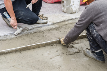 making Cement floor