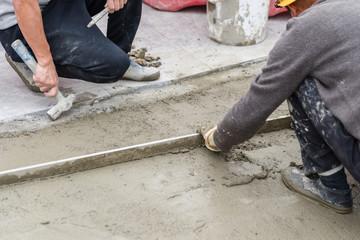 making Cement floor
