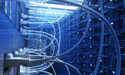 Network Chaos Wall mural