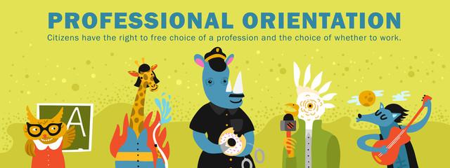 Humanized Animals Professional Orientation Illustration