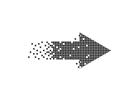 Arrow pixel art design.