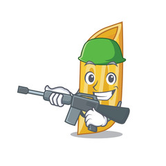 Army penne pasta character cartoon