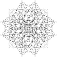 Coloring page for adults, abstract ornament