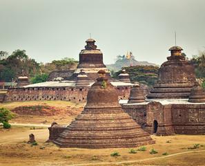 Le-myet-hna Temple in Mrauk U. Myanmar.