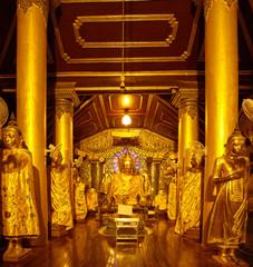 Buddha Footprint hall at Shwedagon complex