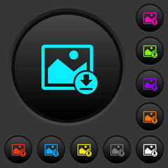 Download image dark push buttons with color icons