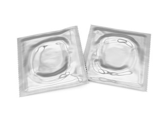 Condoms Foil Packaging Isolated