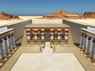 Tempel des Horus von Edfu, Innenansicht