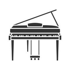 Piano glyph icon