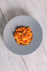 Top View Penne Pasta