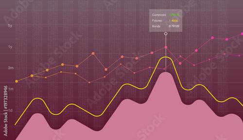Business Data Graph Chart Diagram Vector Illustration Growth