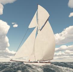 Segelyacht im offenen Meer
