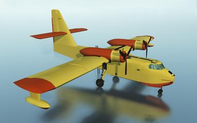 Löschflugzeug für die Brandbekämpfung