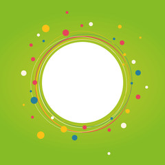 Spring abstract circle background. Vector illustration..