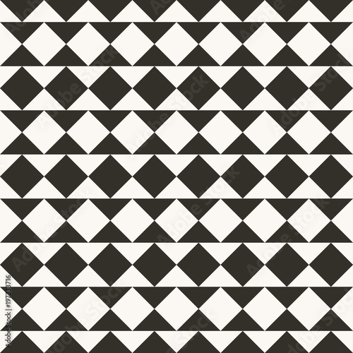 Black And White Abstract Geometric Quilt Pattern High Contrast Background With Triangles Simple