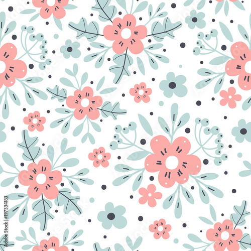 Seamless Floral Background Vector Illustration Stock Image And