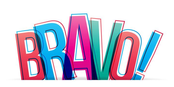 Bravo word concept