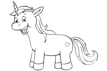 cute unicorn coloring page