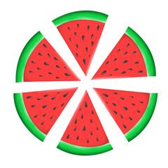 Watermelon slices illustration.