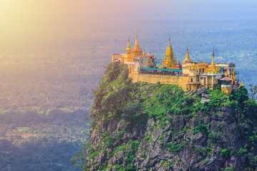 Mt. Popa or Mount Popa home of Nat the Burmese mythology ghost this place is the old volcano in Bagan, Mandalay, Myanmar. Fototapete