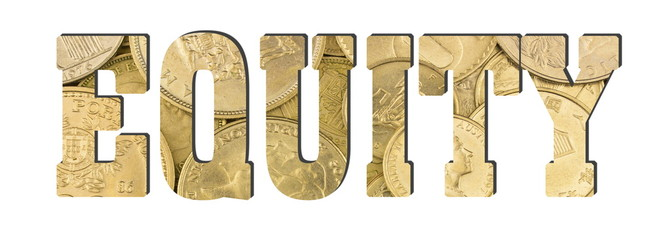 Equity, shiny golden coins textures for designers
