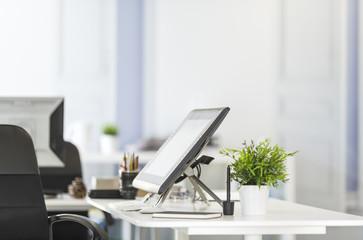 tableta digital en el trabajo