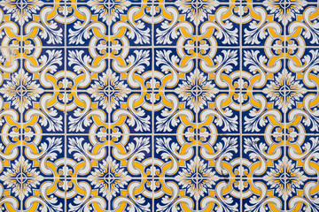 Ceramic tiles Azulejo. Portugal