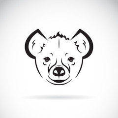 Vector of a hyena(Hyaenidae) head design on white background. Wild Animals. Easy editable layered vector illustration.