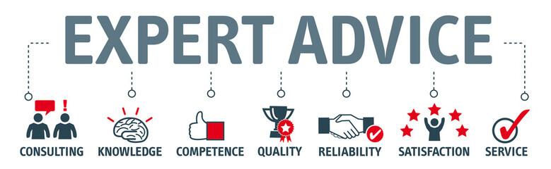 Banner expert advice concept