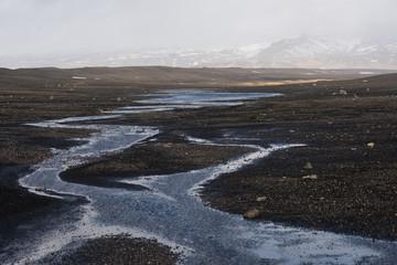 Icelandic winter landscape, Iceland.