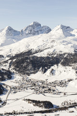 Switzerland, Engadin, St. Moritz seen from above