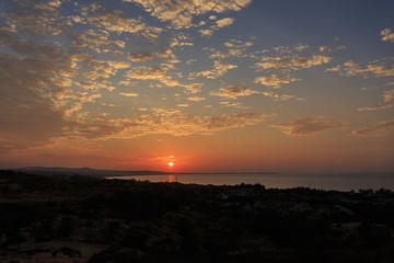 Beautiful sunrise with dramatic cloudscape