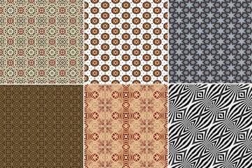 Brown beige seamless ornate cloth print pattern wallpaper