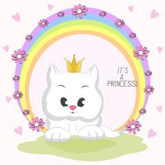 Cute  cat and inscription Its a Princess.