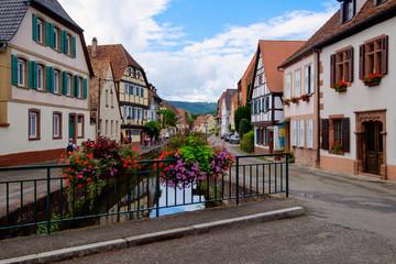 Stadtbild von Wissembourg/Frankreich