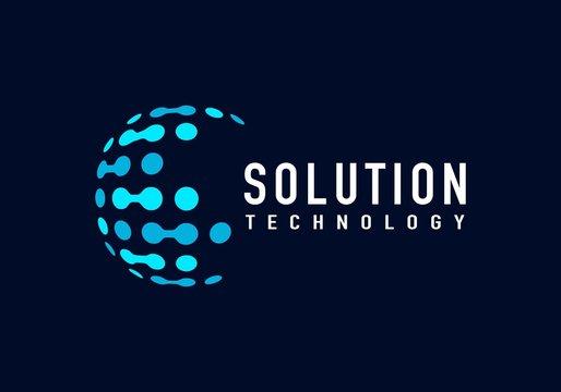 Tech solution logo vector